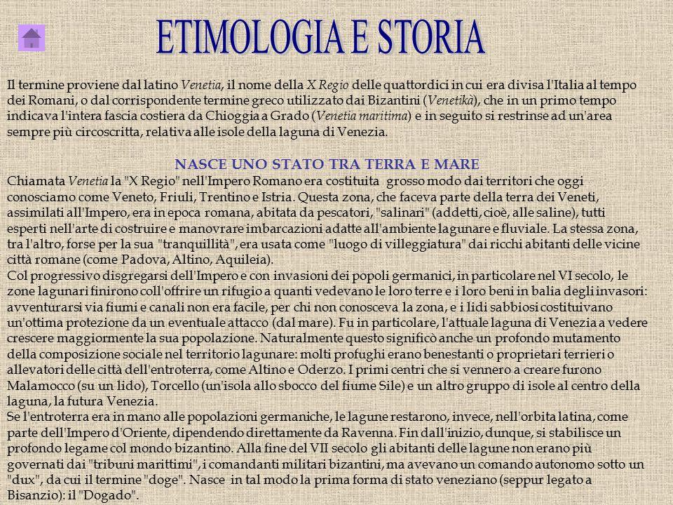 Il termine proviene dal latino Venetia, il nome della X Regio delle quattordici in cui era divisa l'Italia al tempo dei Romani, o dal corrispondente t