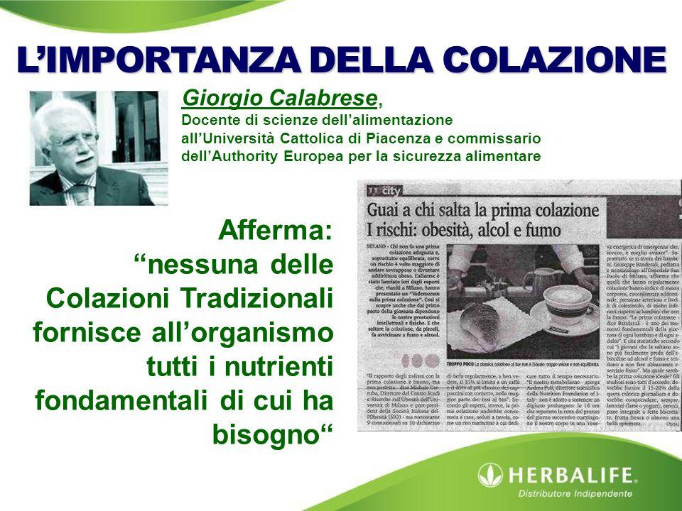 Giorgio Calabrese, Docente di scienze dell'alimentazione all'Università Cattolica di Piacenza e commissario dell'Authority Europea per la sicurezza al