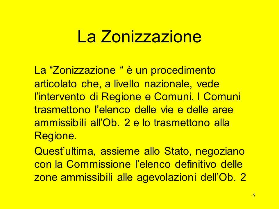 5 La Zonizzazione La Zonizzazione è un procedimento articolato che, a livello nazionale, vede l'intervento di Regione e Comuni.