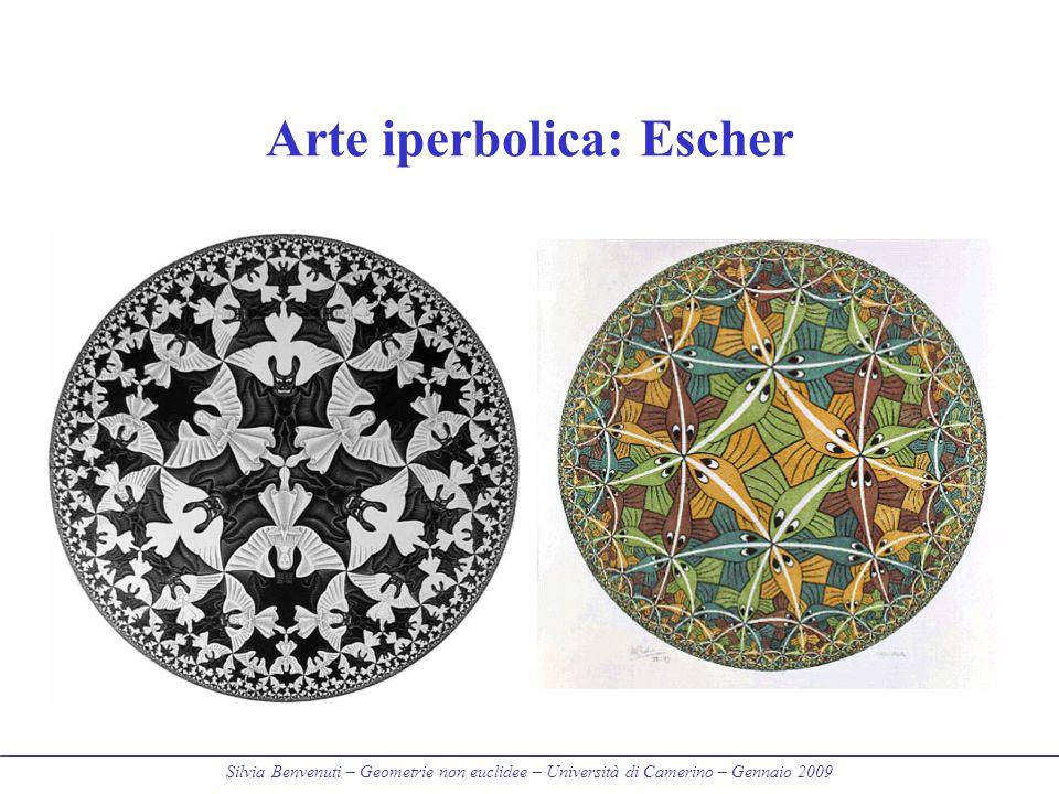 Silvia Benvenuti – Geometrie non euclidee – Università di Camerino – Gennaio 2009 Arte iperbolica: Escher