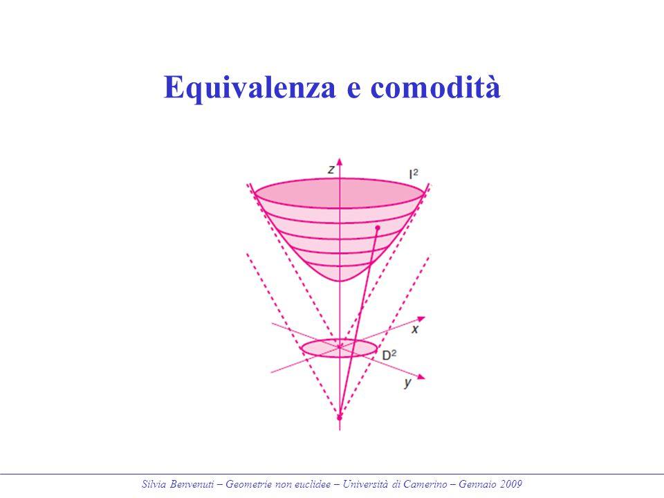 Silvia Benvenuti – Geometrie non euclidee – Università di Camerino – Gennaio 2009 Equivalenza e comodità