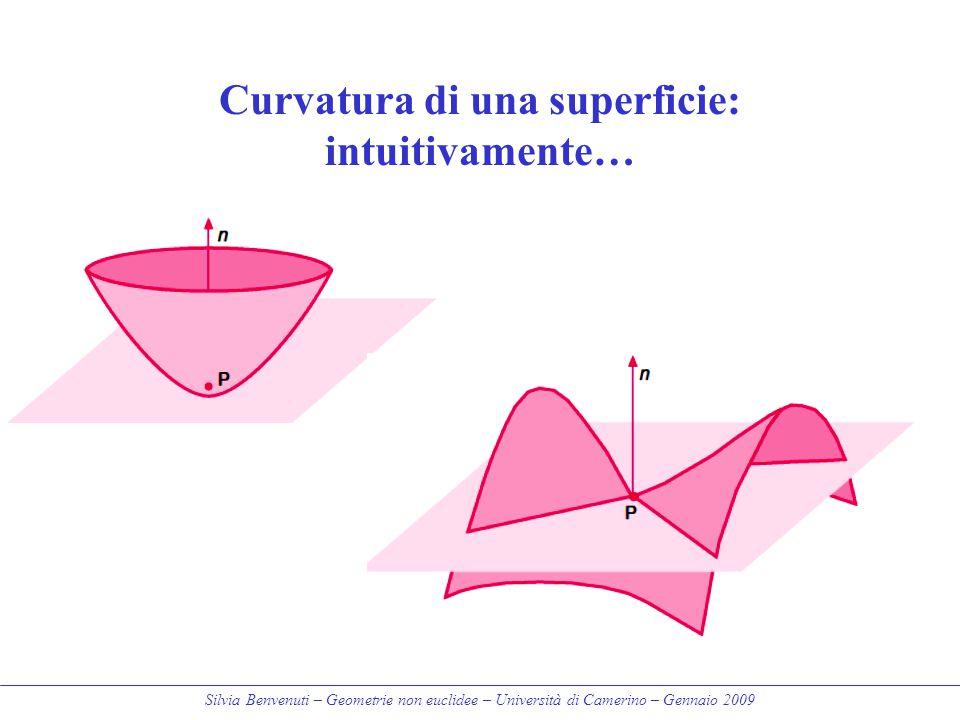 Silvia Benvenuti – Geometrie non euclidee – Università di Camerino – Gennaio 2009 Curvatura di una superficie: intuitivamente…