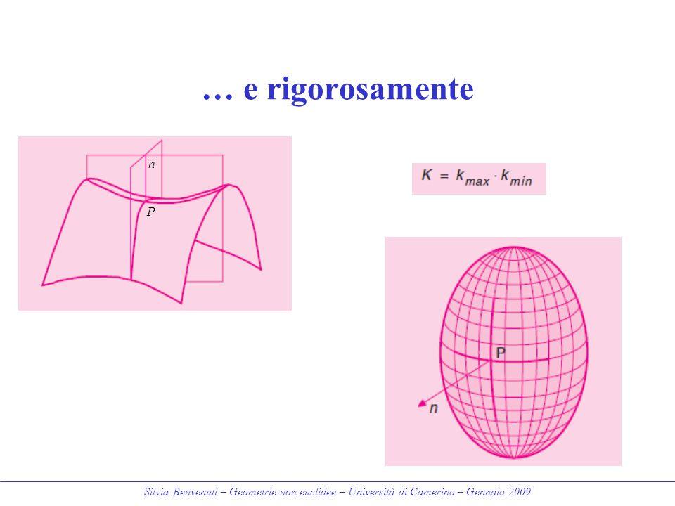 Silvia Benvenuti – Geometrie non euclidee – Università di Camerino – Gennaio 2009 … e rigorosamente P n