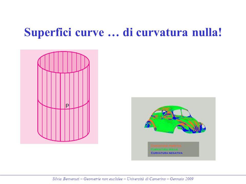 Silvia Benvenuti – Geometrie non euclidee – Università di Camerino – Gennaio 2009 Superfici curve … di curvatura nulla!