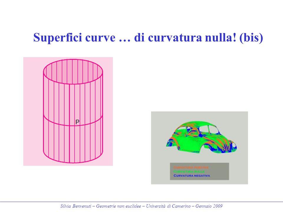 Silvia Benvenuti – Geometrie non euclidee – Università di Camerino – Gennaio 2009 Superfici curve … di curvatura nulla! (bis)