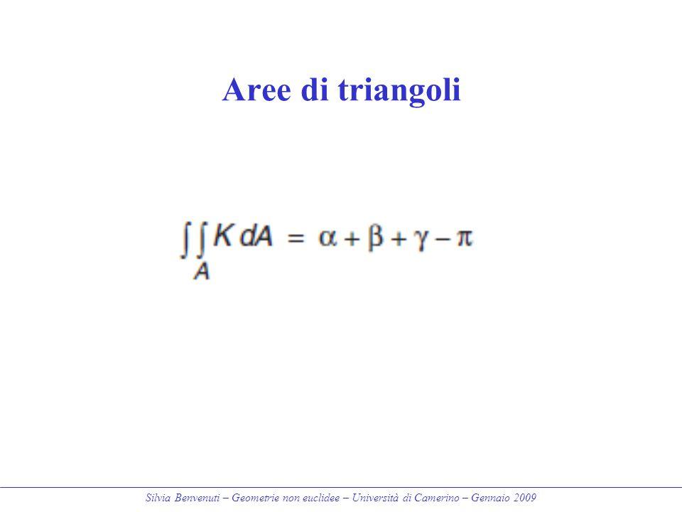 Silvia Benvenuti – Geometrie non euclidee – Università di Camerino – Gennaio 2009 Aree di triangoli