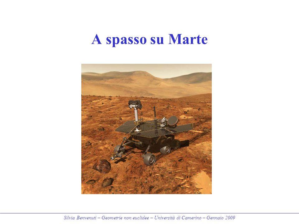 Silvia Benvenuti – Geometrie non euclidee – Università di Camerino – Gennaio 2009 A spasso su Marte