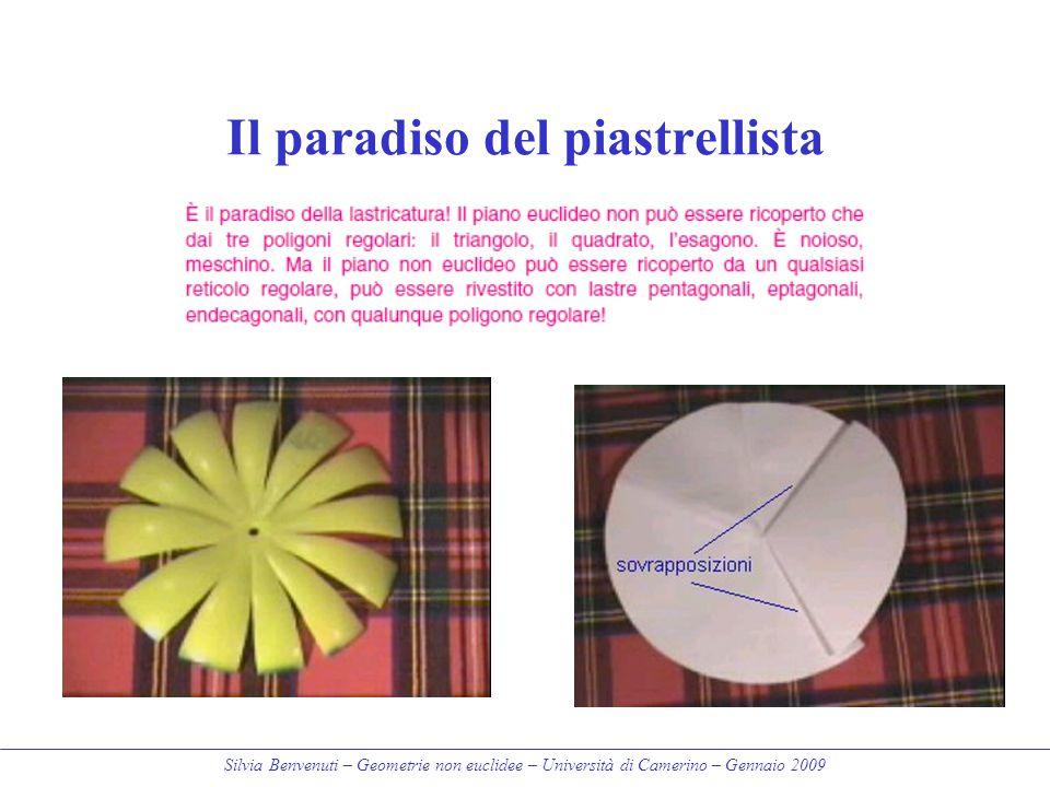 Silvia Benvenuti – Geometrie non euclidee – Università di Camerino – Gennaio 2009 Il paradiso del piastrellista