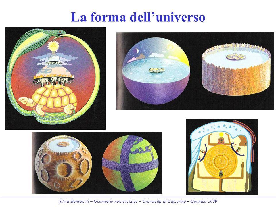 Silvia Benvenuti – Geometrie non euclidee – Università di Camerino – Gennaio 2009 La forma dell'universo