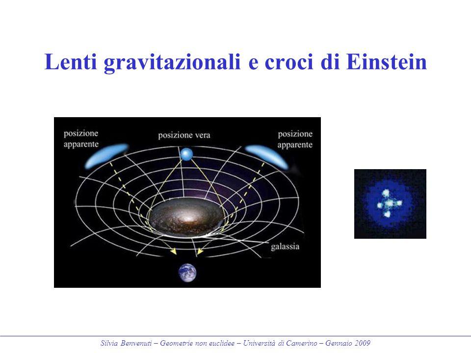 Silvia Benvenuti – Geometrie non euclidee – Università di Camerino – Gennaio 2009 Lenti gravitazionali e croci di Einstein