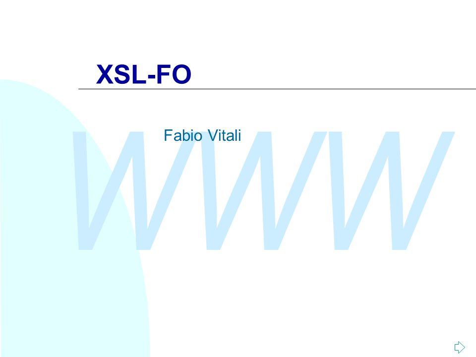 WWW XSL-FO Fabio Vitali