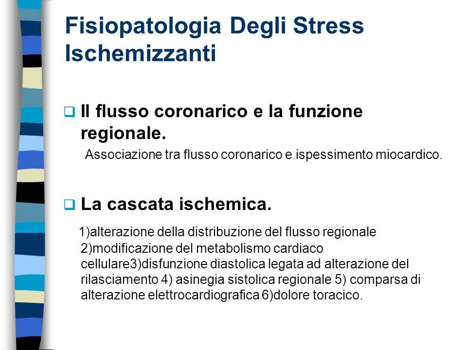 Fisiopatologia Degli Stress Ischemizzanti  Il flusso coronarico e la funzione regionale.