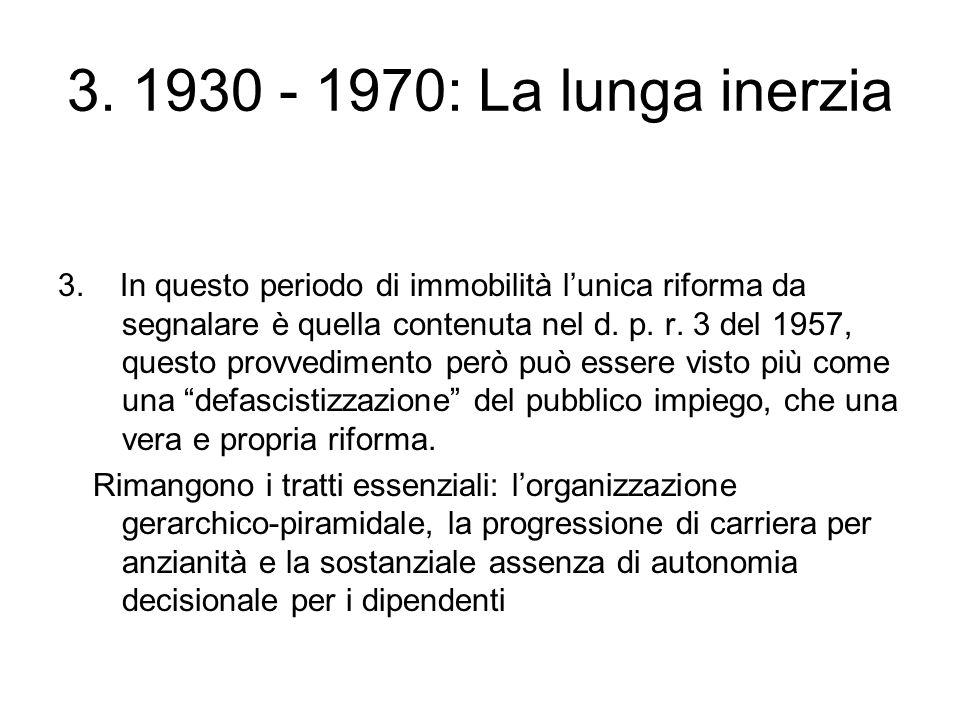 3. 1930 - 1970: La lunga inerzia 3.