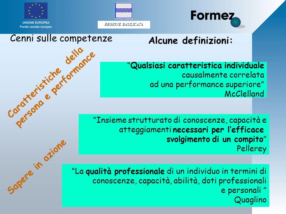 REGIONE BASILICATA 27 Il vero nodo delle questioni del formare è rappresentato dalle questioni dell'apprendere.
