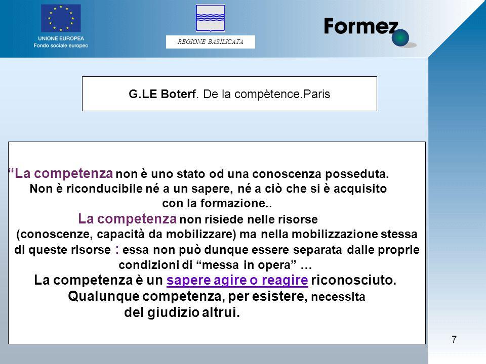 REGIONE BASILICATA 7 G.LE Boterf.