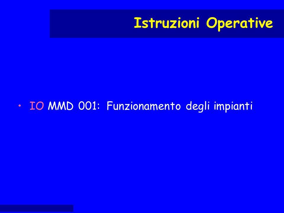 IO MMD 001: Funzionamento degli impianti Istruzioni Operative