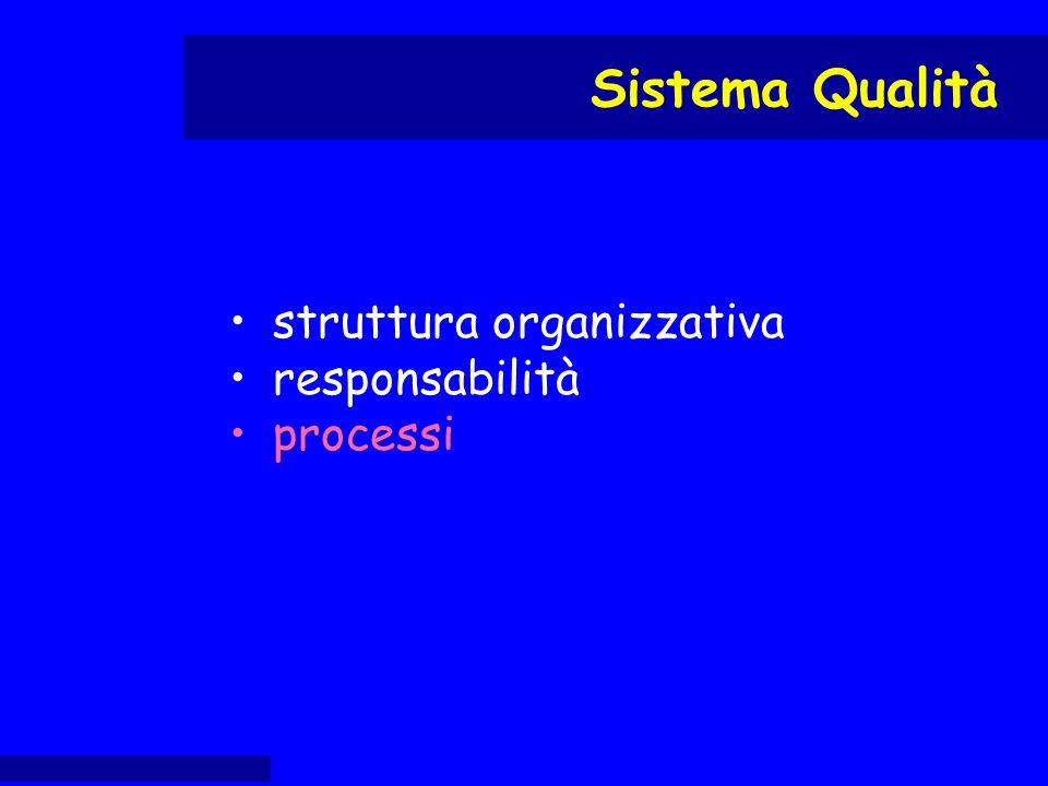 struttura organizzativa responsabilità processi Sistema Qualità
