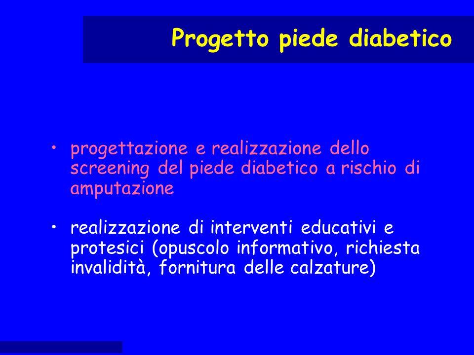 progettazione e realizzazione dello screening del piede diabetico a rischio di amputazione realizzazione di interventi educativi e protesici (opuscolo