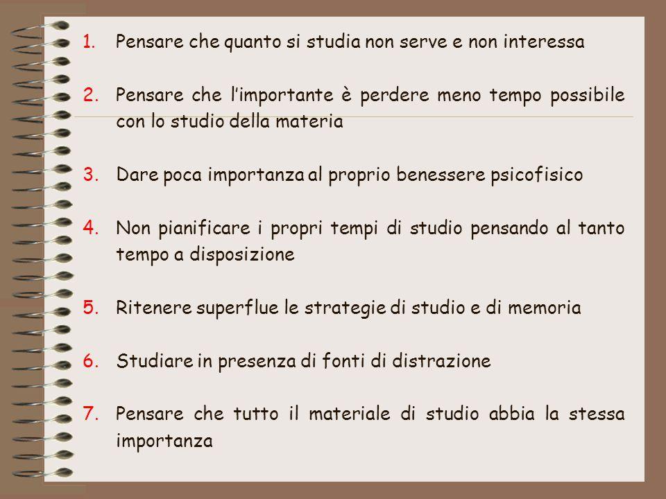 Per saperne di più:  Cornoldi C., De Beni R.Imparare a studiare 2 e Gruppo MT (1993).