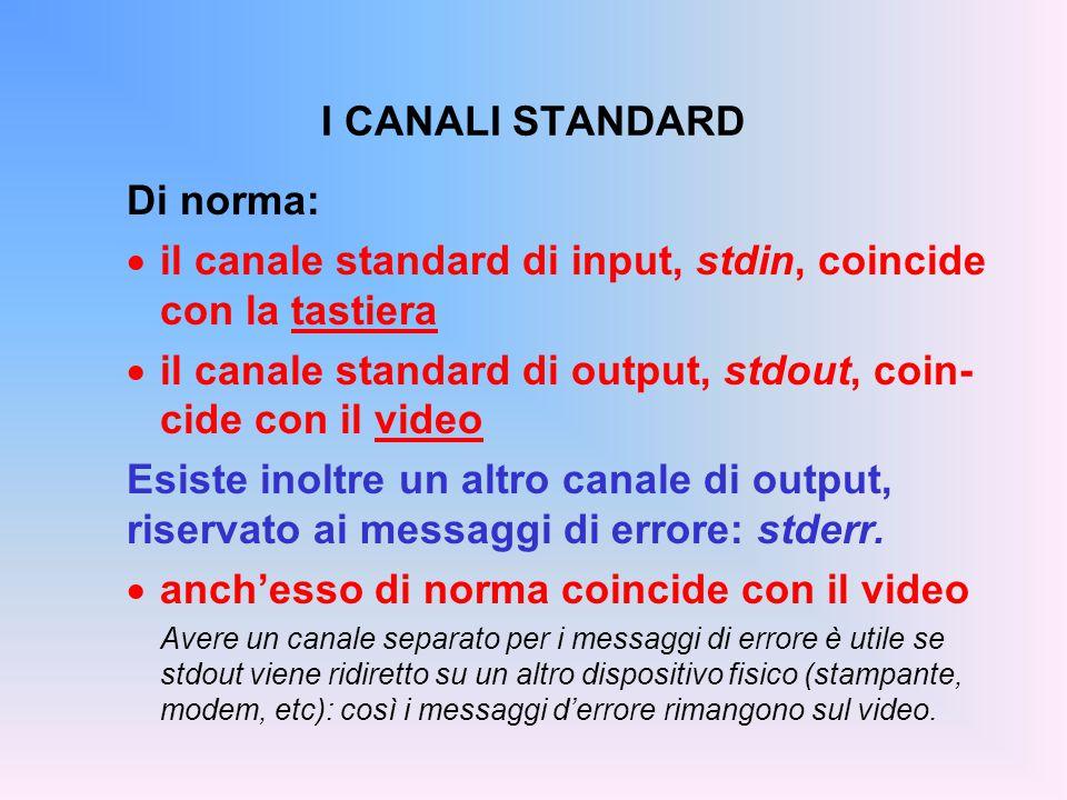 scanf() : PRECISAZIONI  Inserire spazi o altri caratteri nella stringa di formato di scanf() è quindi possibile, ma ha il significato di richiedere che tali caratteri siano obbligatoriamente presenti in input: se mancano, scanf() dà errore.