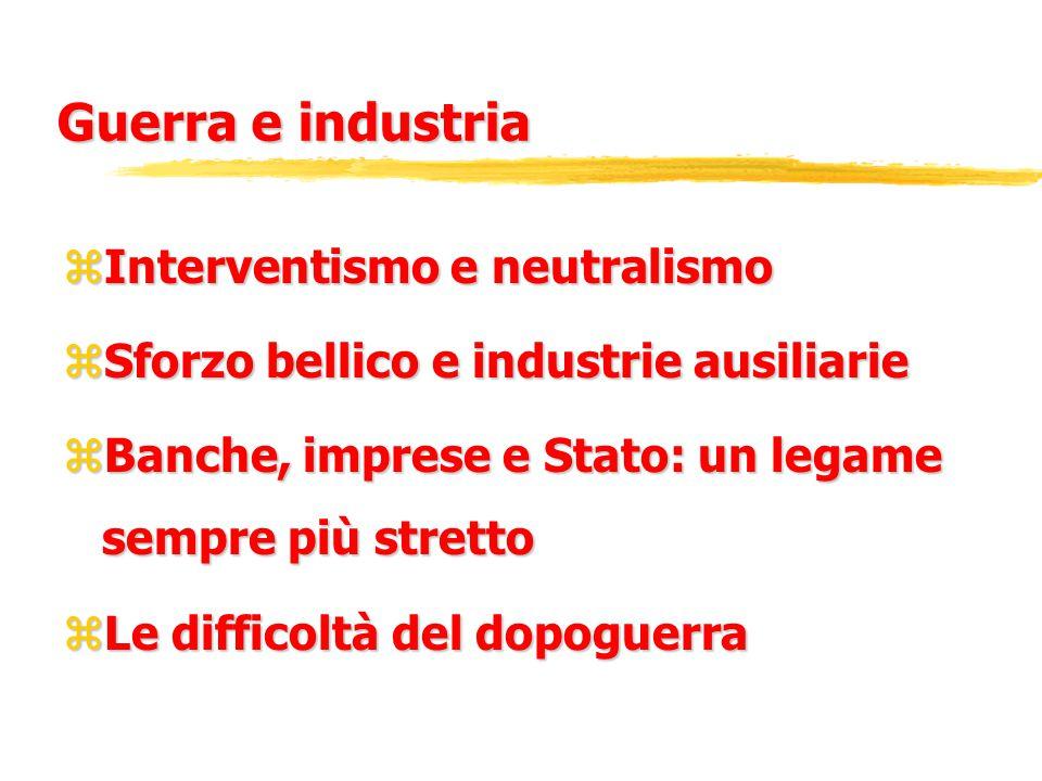 L'avvento del Fascismo zLa crisi dello Stato liberale zIl periodo di De'Stefani: un modello export-led.