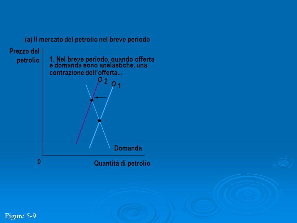 Quantità di petrolio 0 Prezzo del petrolio Domanda O 2 O 1 (a) Il mercato del petrolio nel breve periodo 1. Nel breve periodo, quando offerta e domand