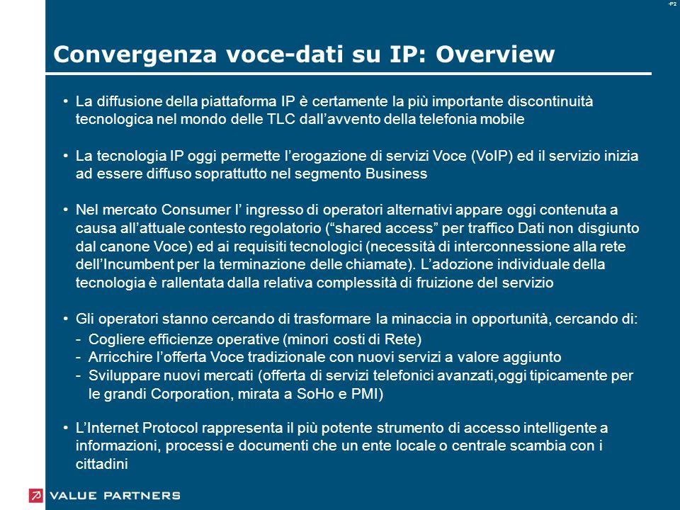-P2 La diffusione della piattaforma IP è certamente la più importante discontinuità tecnologica nel mondo delle TLC dall'avvento della telefonia mobil