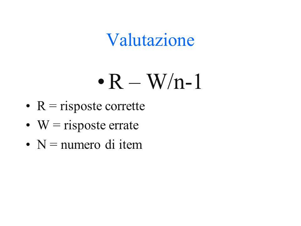 Costruzione degli item (multipli) Radice- risposte possibili Comprensibilità Unicità della risposta Centralità del tema Indipendenza della risposta Plausibilità delle alternativa Formulazione omogenea Forma affermativa