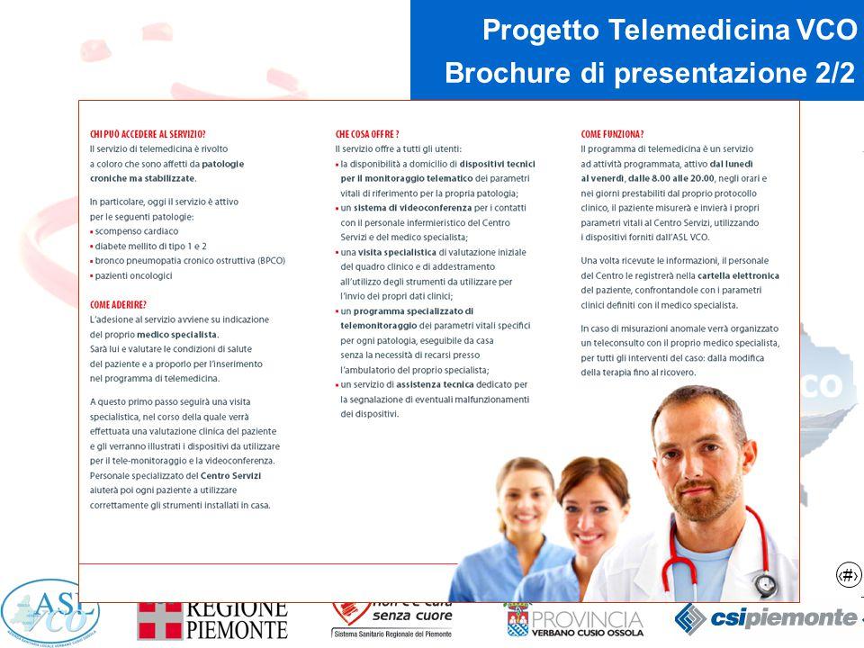 10 Progetto Telemedicina VCO Brochure di presentazione 2/2
