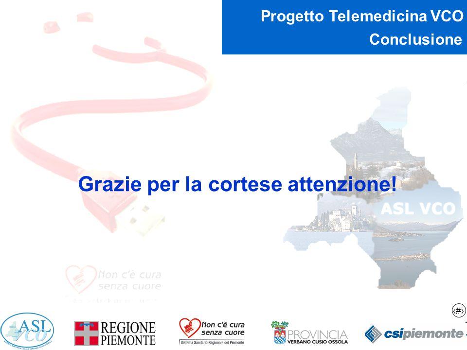 16 Progetto Telemedicina VCO Conclusione Grazie per la cortese attenzione!