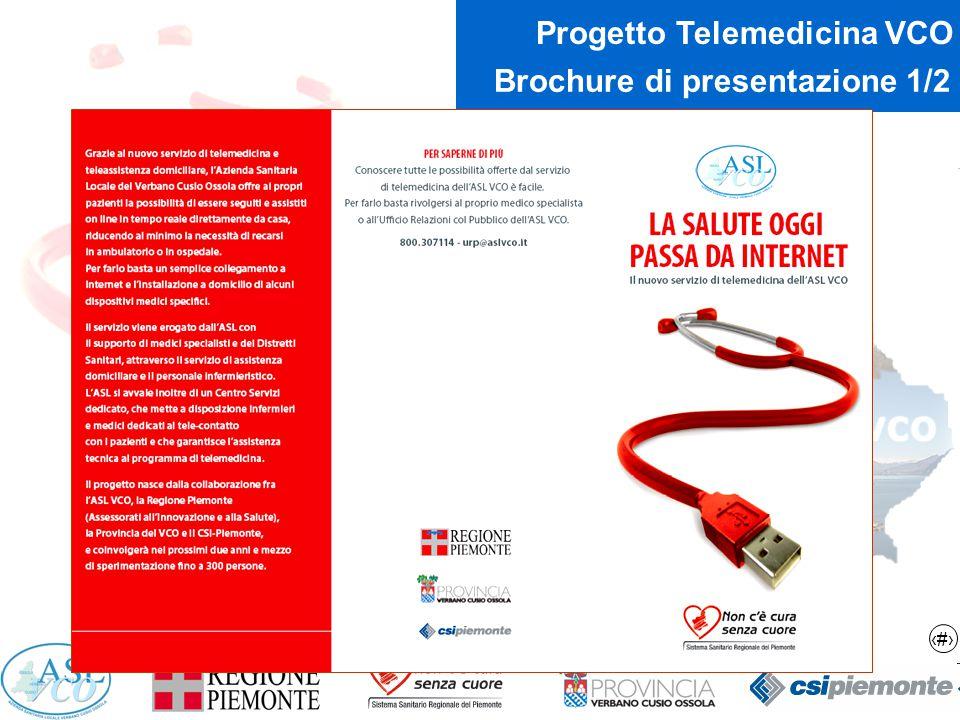 9 Progetto Telemedicina VCO Brochure di presentazione 1/2