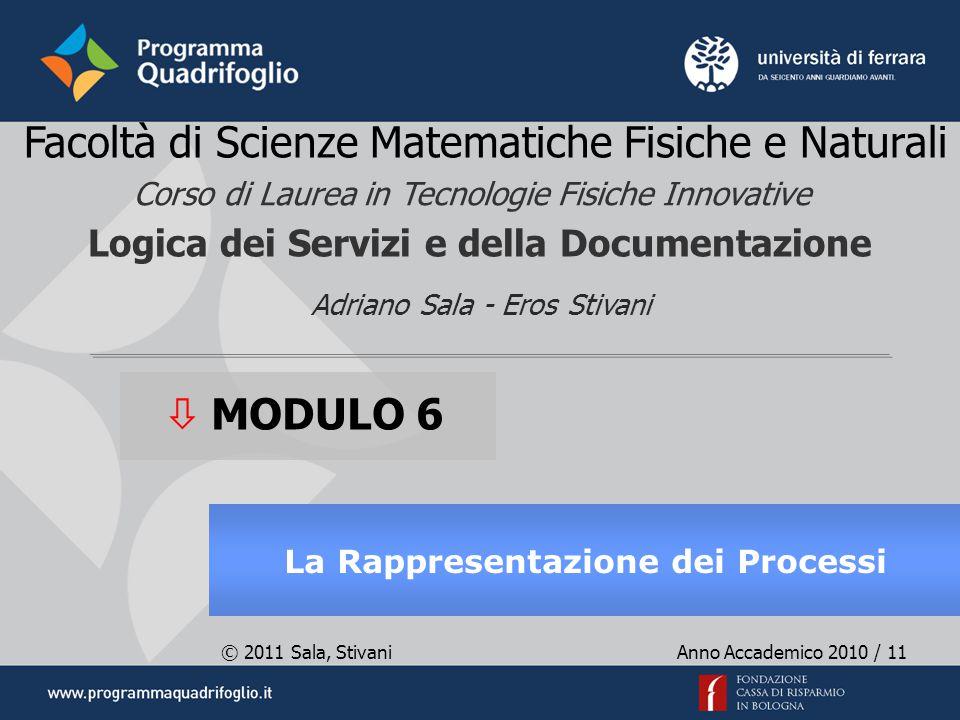 © 2011 Sala, Stivani Anno Accademico 2010 / 11 Adriano Sala - Eros Stivani Facoltà di Scienze Matematiche Fisiche e Naturali Logica dei Servizi e dell
