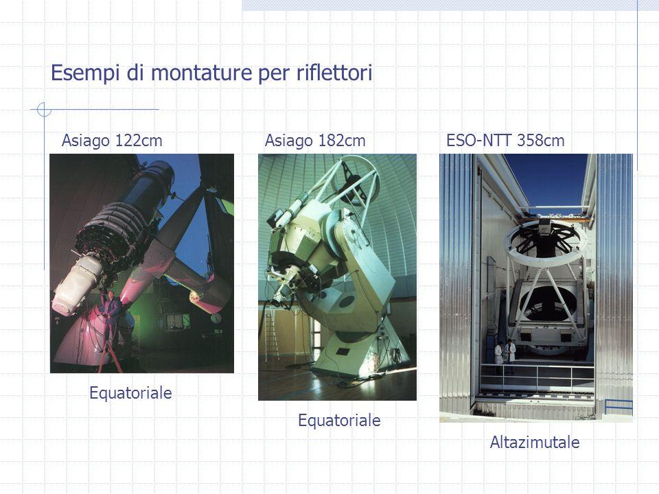 Asiago 122cmAsiago 182cmESO-NTT 358cm Equatoriale Altazimutale Esempi di montature per riflettori