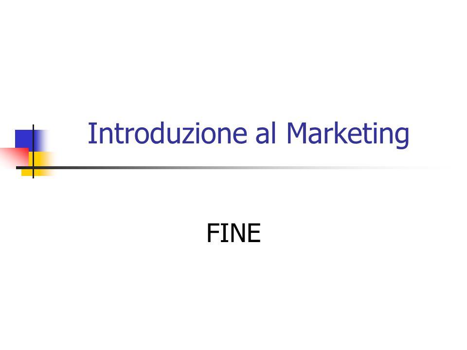 Introduzione al Marketing FINE