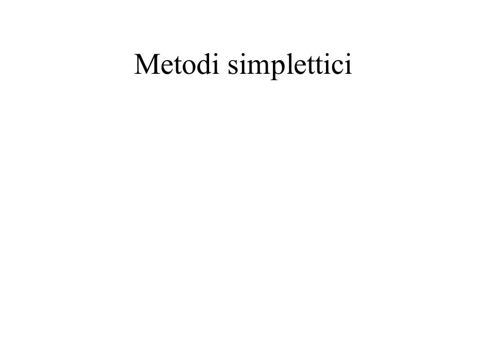 Metodi simplettici