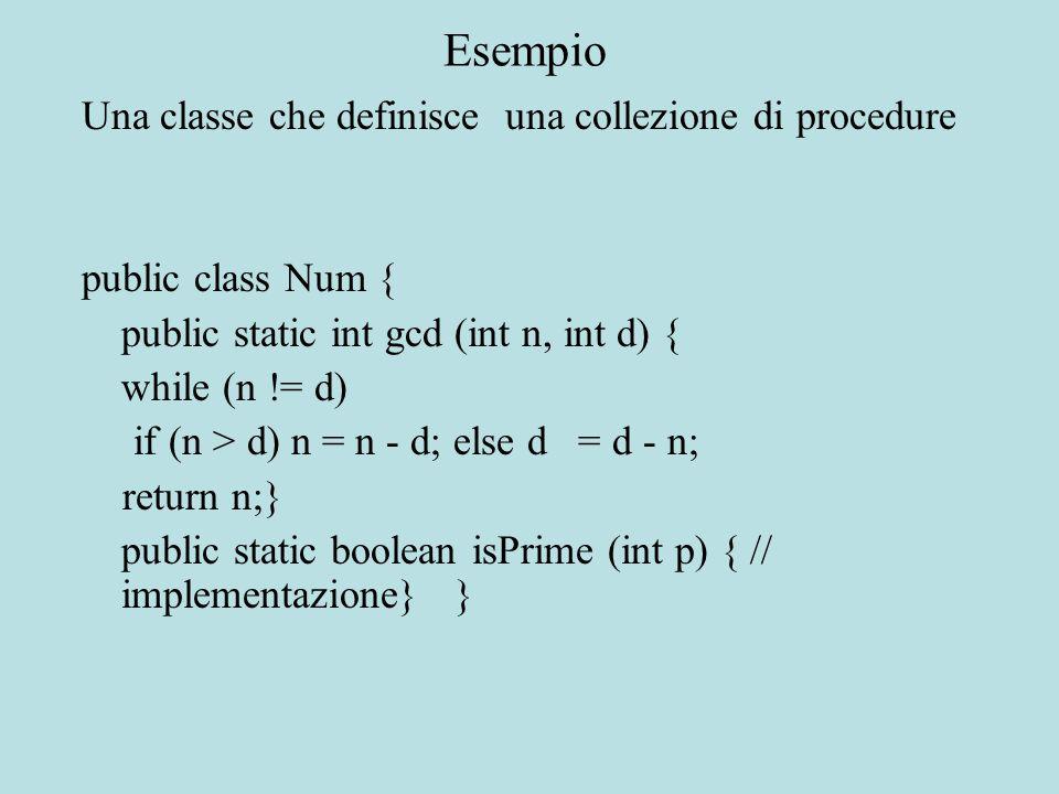 Riscriviamo il metodo visualizza per Studente in modo da chiamare il metodo visualizza di Persona per accedere alle variabili della superclasse public void visualizza() { super.visualizza(); System.out.println( Matricola: + matricola + \nPianodiStudio: + pianoDiStudio); } Esempio