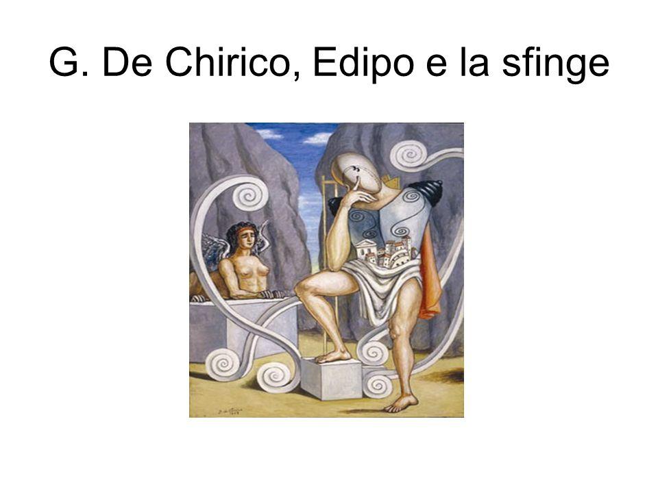 G. De Chirico, Edipo e la sfinge