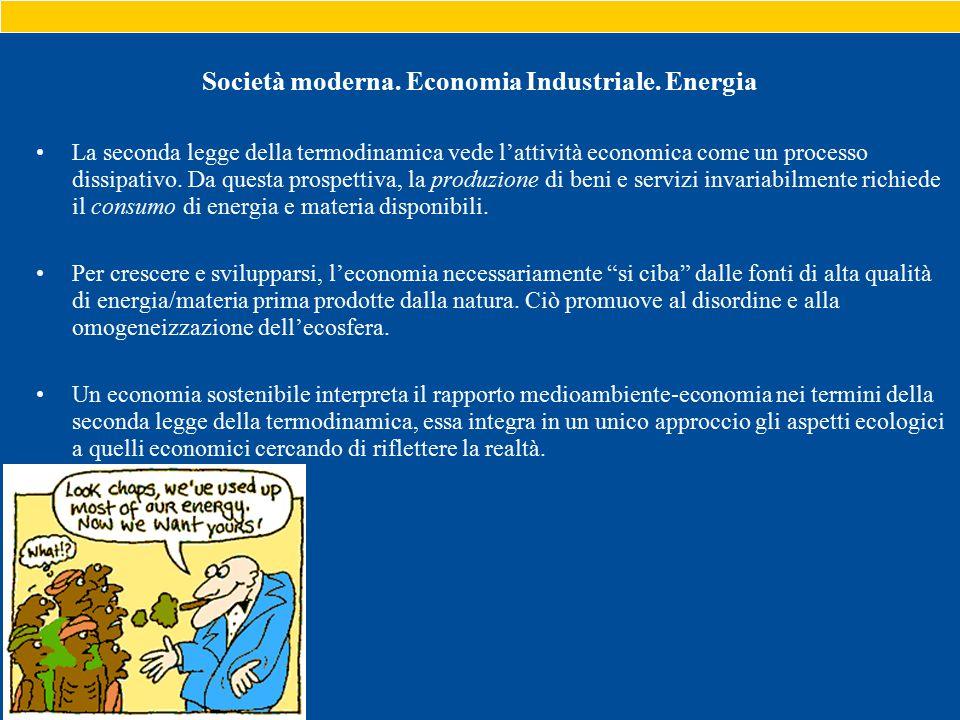 Società moderna. Economia Industriale.