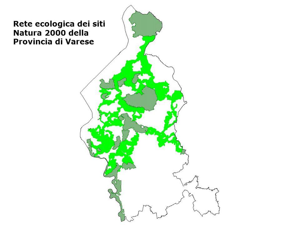 Rete ecologica dei siti Natura 2000 della Provincia di Varese