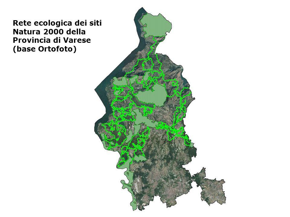 Rete ecologica dei siti Natura 2000 della Provincia di Varese (base Ortofoto)