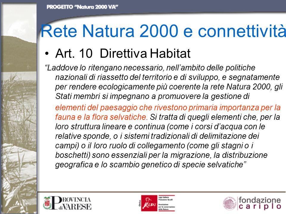 Rete Natura 2000 e connettività Art.
