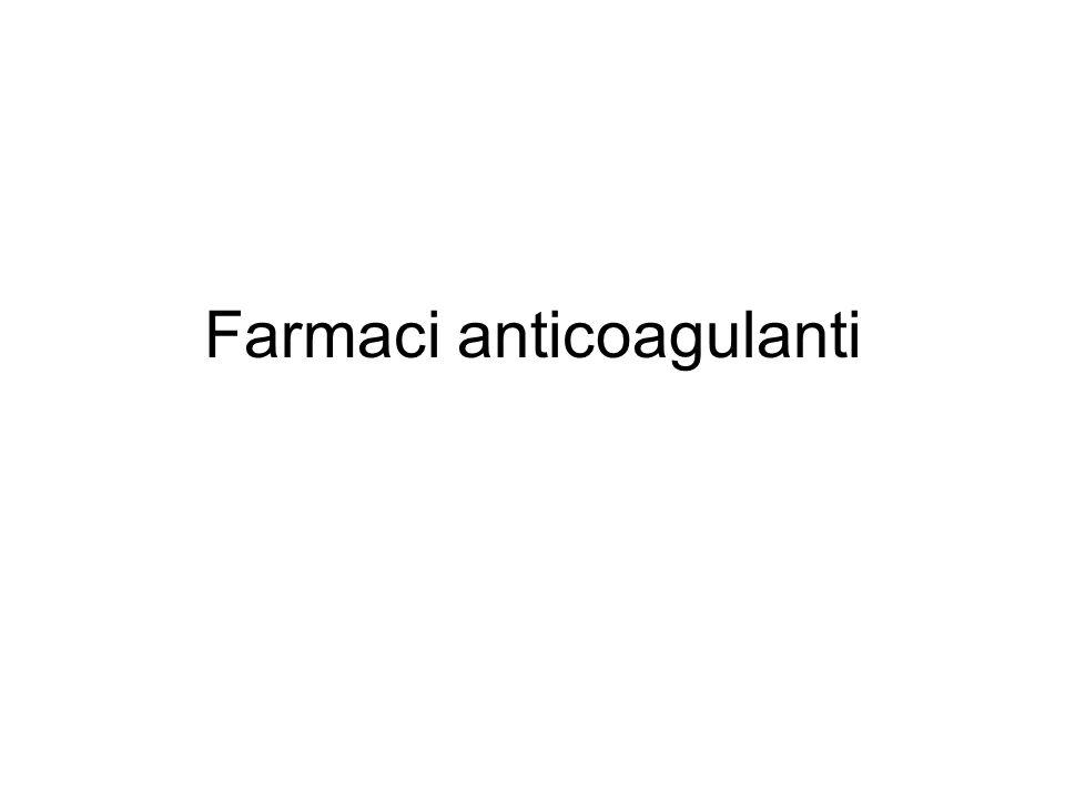 Farmaci antifibrinolitici In caso di condizioni emorragiche, può essere necessario limitare il processo fibrinolitico.