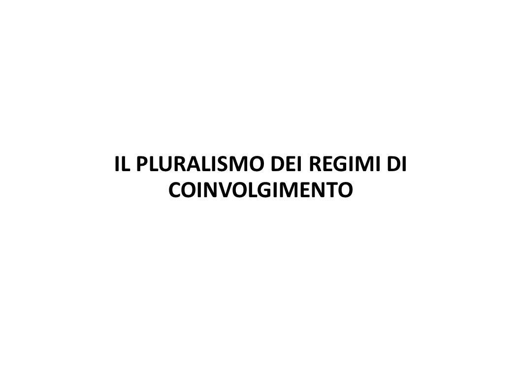 IL PLURALISMO DEI REGIMI DI COINVOLGIMENTO