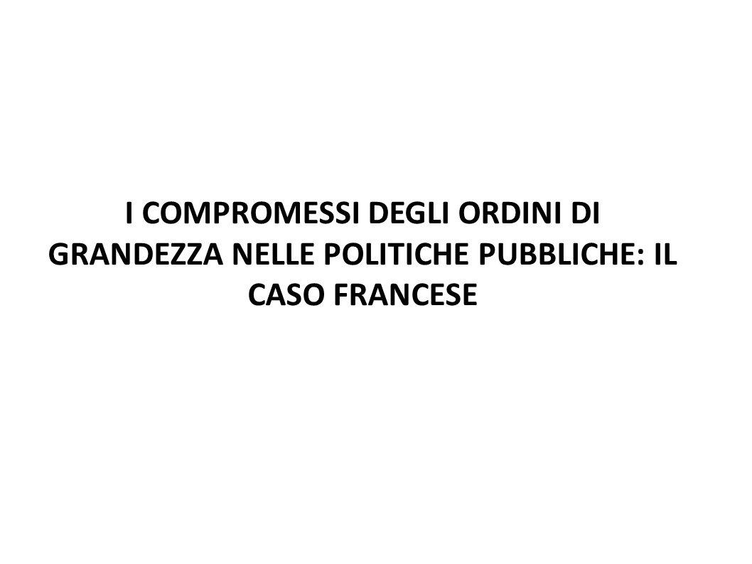 I COMPROMESSI DEGLI ORDINI DI GRANDEZZA NELLE POLITICHE PUBBLICHE: IL CASO FRANCESE