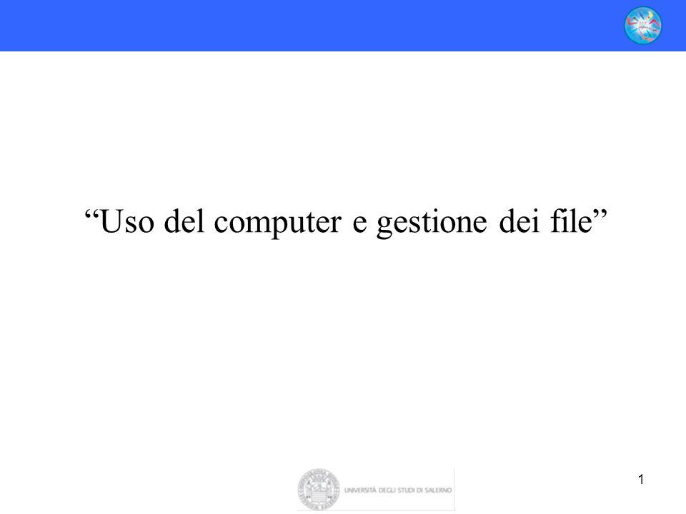 """1 """"Uso del computer e gestione dei file"""""""