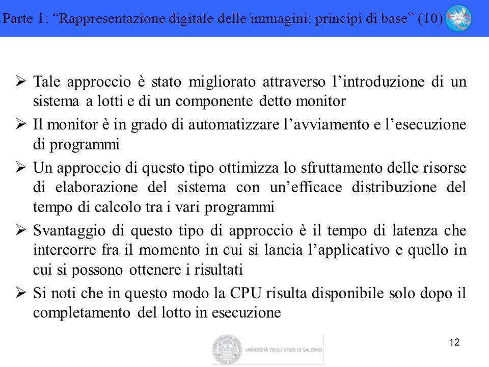 """12 Parte 1: """"Rappresentazione digitale delle immagini: principi di base"""" (10)  Tale approccio è stato migliorato attraverso l'introduzione di un sist"""