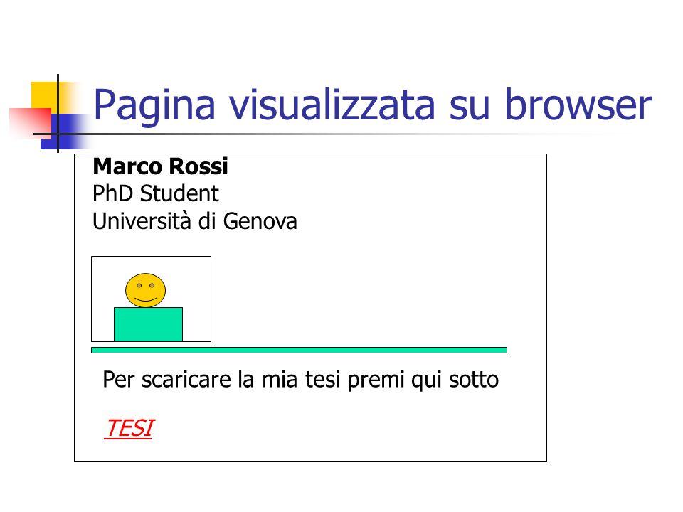 Pagina visualizzata su browser Marco Rossi PhD Student Università di Genova Per scaricare la mia tesi premi qui sotto TESI