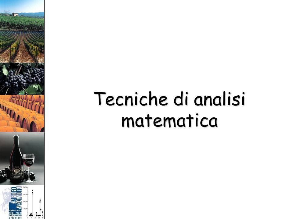Tecniche di analisi matematica