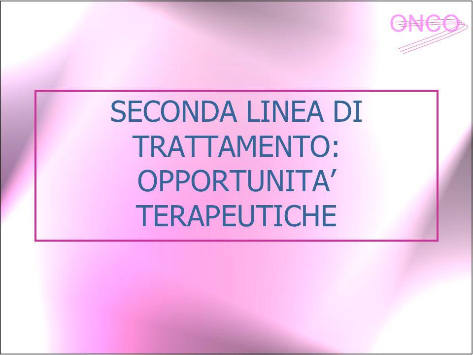 ONCO SECONDA LINEA DI TRATTAMENTO: OPPORTUNITA' TERAPEUTICHE