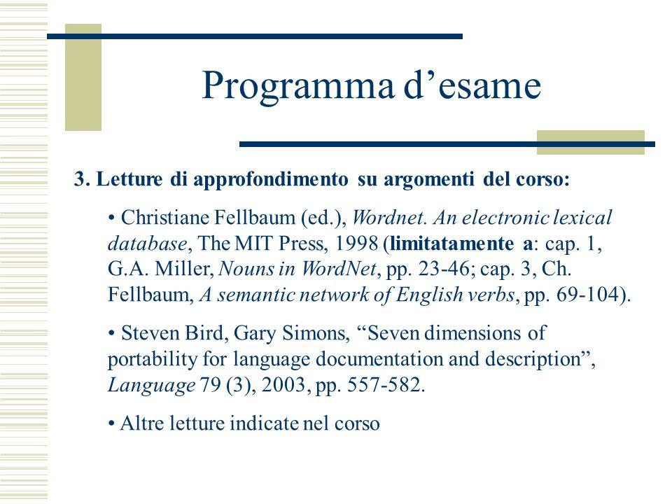 Programma d'esame 3.